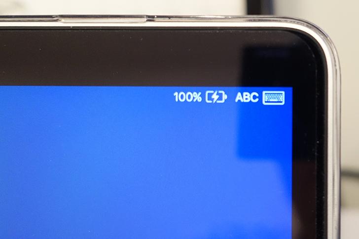 macbookの充電状況