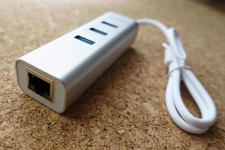 LANケーブルアダプター付USBハブ 画像