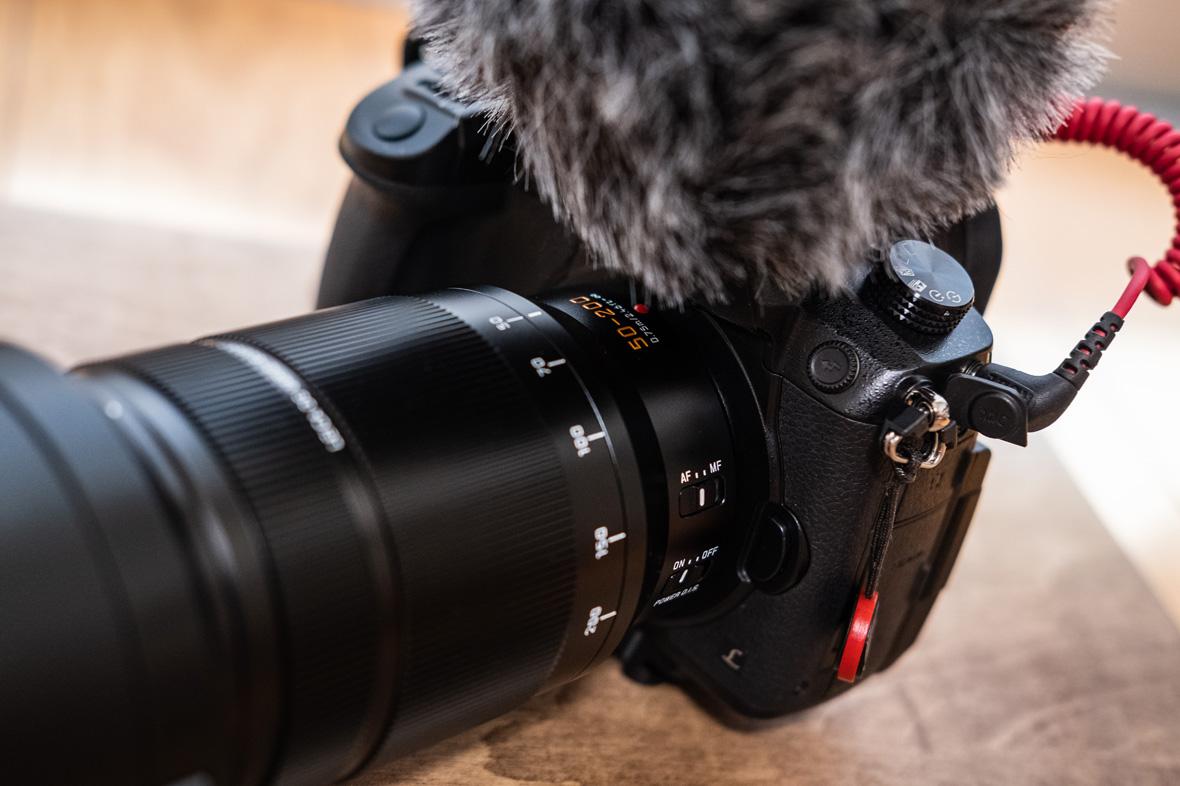 LEICA DG VARIO-ELMARIT 50-200mm装着画像
